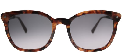 MaxMara MM NeedleIII USL EU Square Plastic Tortoise/ Havana Sunglasses with Grey Gradient Lens