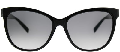 MaxMara MM Thin 807 VK Cat-Eye Plastic Black Sunglasses with Grey Gradient Lens