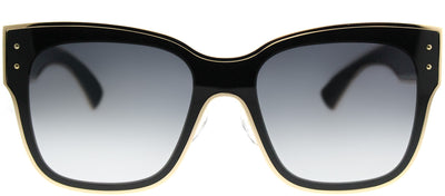 Moschino MOS 000/S 807 90 Square Metal Black Sunglasses with Dark Grey Gradient Lens