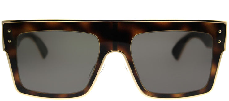 Moschino MOS 001/S 086 IR Rectangle Metal Tortoise/ Havana Sunglasses with Grey Lens