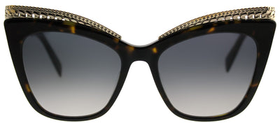 Moschino MOS 009/S 086 9O Cat-Eye Plastic Tortoise/ Havana Sunglasses with Dark Grey Gradient Lens