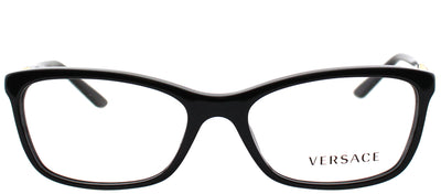 Versace VE 3186 GB1 Rectangle Plastic Black Eyeglasses with Demo Lens