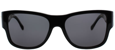 Versace VE 4275 GB1/81 Square Plastic Black Sunglasses with Grey Polarized Lens