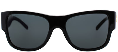 Versace VE 4275 GB1/87 Square Plastic Black Sunglasses with Grey Lens