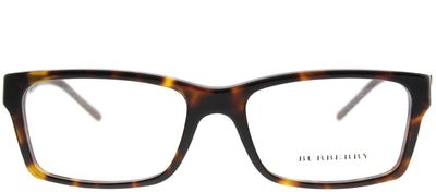Burberry BE 2108 3002 Rectangle Plastic Tortoise/ Havana Eyeglasses with Demo Lens