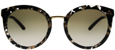 Dolce & Gabbana DG 4268 911/6E Round Plastic Black Sunglasses with Gold Mirror Lens