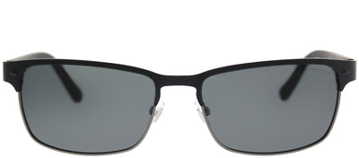 Fossil FO 3000/P EF8P Y2 Rectangle Metal Black Sunglasses with Grey Polarized Lens