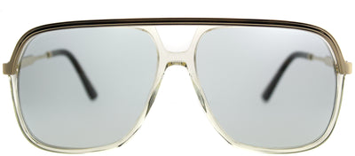 Gucci GG 0200S 005 Fashion Metal Clear Sunglasses with Light Blue Lens