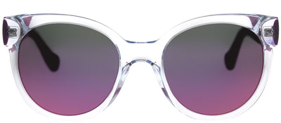 Havaianas HA Noronha/M Round Plastic Clear Sunglasses with Pink Mirror Lens
