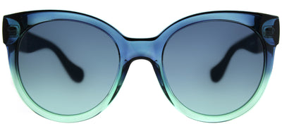 Havaianas HA Noronha/M Round Plastic Green Sunglasses with Blue Aqua Lens