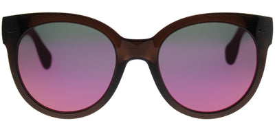 Havaianas HA Noronha/M Round Plastic Brown Sunglasses with Pink Mirror Lens