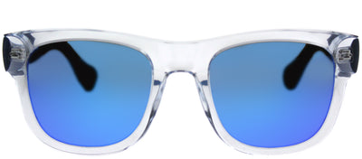 Havaianas HA Paraty/M Square Plastic Clear Sunglasses with Blue Mirror Lens