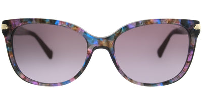 Coach HC 8132 52888H Cat-Eye Plastic Purple Sunglasses with Purple Gradient Lens