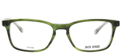 Jack Spade JS Graham EF1 Rectangle Plastic Green Eyeglasses with Demo Lens