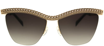 Moschino MOS 010/S 06J HA Cat-Eye Metal Gold Sunglasses with Brown Gradient Lens