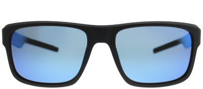 Polaroid PLD 3018/S DL5 JY Rectangle Plastic Black Sunglasses with Blue Mirror Polarized Lens