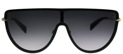 Rag & Bone RNB 1008/S 2M2 9O Shield Plastic Black Sunglasses with Grey Gradient Lens