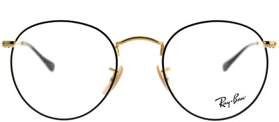 Ray-Ban RX 3447V 2991 Round Metal Gold Eyeglasses with Demo Lens