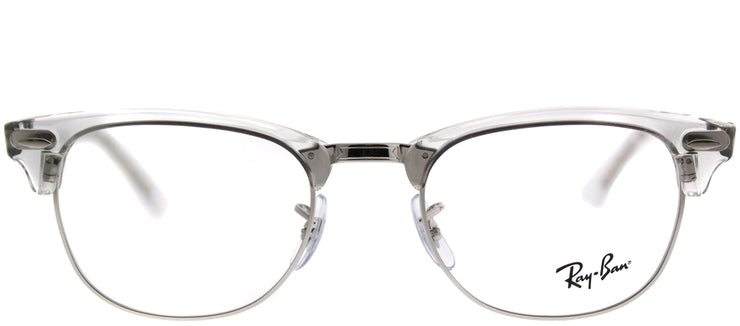 Ray-Ban RX 5154 2001 Clubmaster Plastic Clear Eyeglasses with Demo Lens