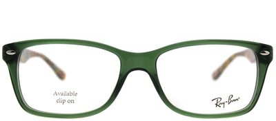 Ray-Ban RX 5228 5630 Rectangle Plastic Green Eyeglasses with Demo Lens