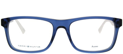 Tommy Hilfiger TH 1282 FMW Rectangle Plastic Blue Eyeglasses with Demo Lens