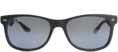 Ray-Ban Junior Jr RJ 9052 100S55 Wayfarer Plastic Black Sunglasses with Blue Mirror Lens