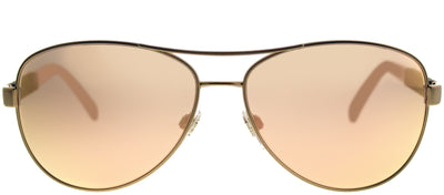 Burberry BE 3080 12357J Aviator Metal Gold Sunglasses with Rose Gold Mirror Lens