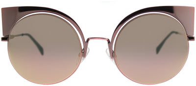 Fendi FF 0177 Z5D Cat-Eye Metal Pink Sunglasses with Pink Mirror Lens