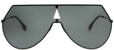 Fendi FF 0193 807 IR Shield Metal Black Sunglasses with Grey Lens