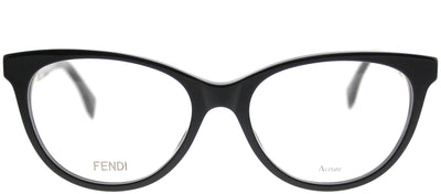 Fendi FF 0201 807 Cat-Eye Plastic Black Eyeglasses with Demo Lens