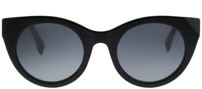 Fendi FF 0203 738 Cat-Eye Plastic Black Sunglasses with Grey Gradient Lens