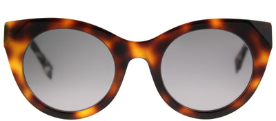 Fendi FF 0203 8MV Cat-Eye Plastic Tortoise/ Havana Sunglasses with Grey Gradient Lens
