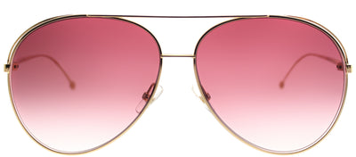Fendi FF 0286 000 3X Aviator Metal Gold Sunglasses with Pink Gradient Lens