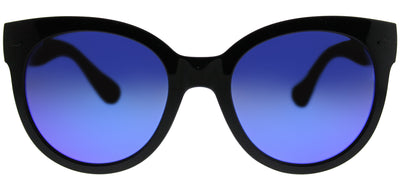 Havaianas HA Noronha/M Round Plastic Black Sunglasses with Violet Mirror Lens