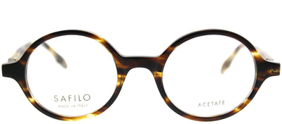 Safilo SA Buratto01 KVI Round Plastic Brown Eyeglasses with Demo Lens