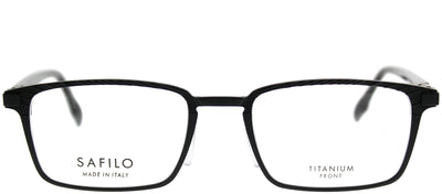 Safilo SA Forgia02 003 Rectangle Metal Black Eyeglasses with Demo Lens