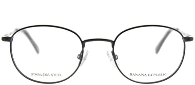 Banana Republic BP Dane JVX Round Metal Black Eyeglasses with Demo Lens