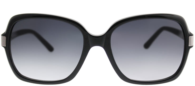 Saks Fifth Avenue SAKS 82/S 807 Y7 Square Plastic Black Sunglasses with Grey Gradient Lens