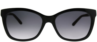 Saks Fifth Avenue SAKS 83/S 807 Y7 Rectangle Plastic Black Sunglasses with Grey Gradient Lens