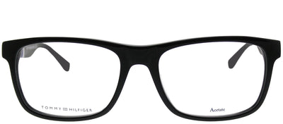 Tommy Hilfiger TH 1282 FMV Rectangle Plastic Black Eyeglasses with Demo Lens