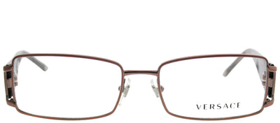 Versace VE 1163B 1013 Rectangle Metal Brown Eyeglasses with Demo Lens
