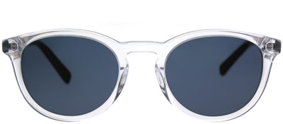 Banana Republic BP Johnny 900 KU Round Plastic Clear Sunglasses with Blue Lens