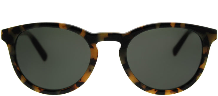 Banana Republic BP Johnny LC0 L2 Round Plastic Tortoise/ Havana Sunglasses with Green Lens