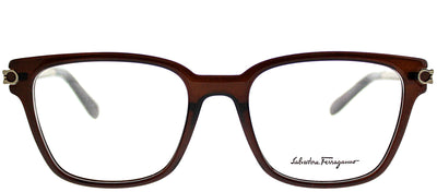 Salvatore Ferragamo SF 2773 210 Square Plastic Brown Eyeglasses with Demo Lens