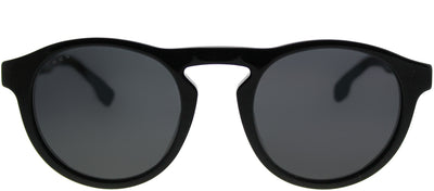 Hugo Boss BOSS 0973 08A IR Round Plastic Black Sunglasses with Grey Lens