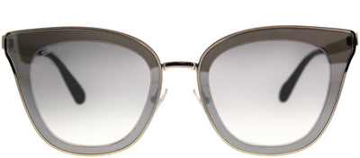Jimmy Choo JC Lory 3YG Cat-Eye Metal Silver Sunglasses with Silver Mirror Gradient Lens