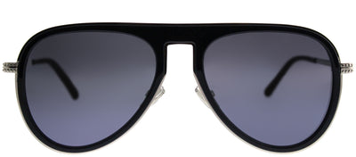 Jimmy Choo JCM Carl PJP 96 Aviator Metal Blue Sunglasses with Silver Mirror Lens