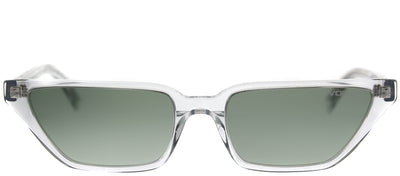 Vogue Eyewear VO 5235S W7458E Cat-Eye Plastic Clear Sunglasses with Green Gradient Lens