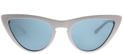 Vogue VO 5211S 260480 Cat-Eye Plastic Ivory/ White Sunglasses with Blue Lens