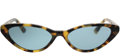 Vogue Eyewear VO 5237S 260580 Cat-Eye Plastic Tortoise/ Havana Sunglasses with Blue Lens